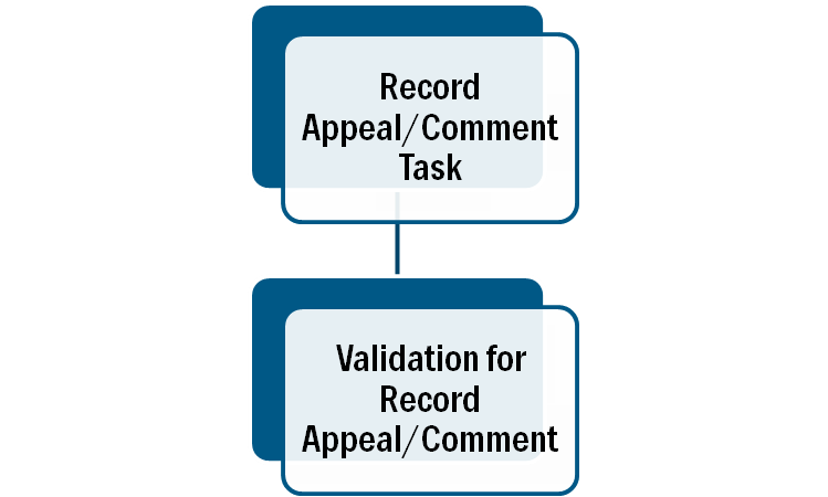 Record Appeal Comment Validation Relationships