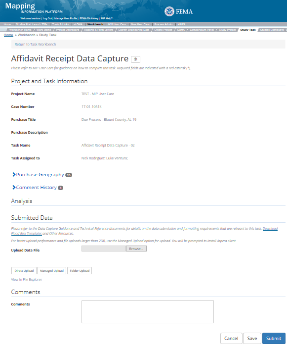 Affidavit Receipt Data Capture