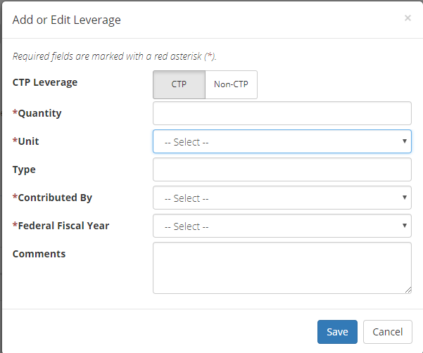 Add CTP Leverage Modal Popup