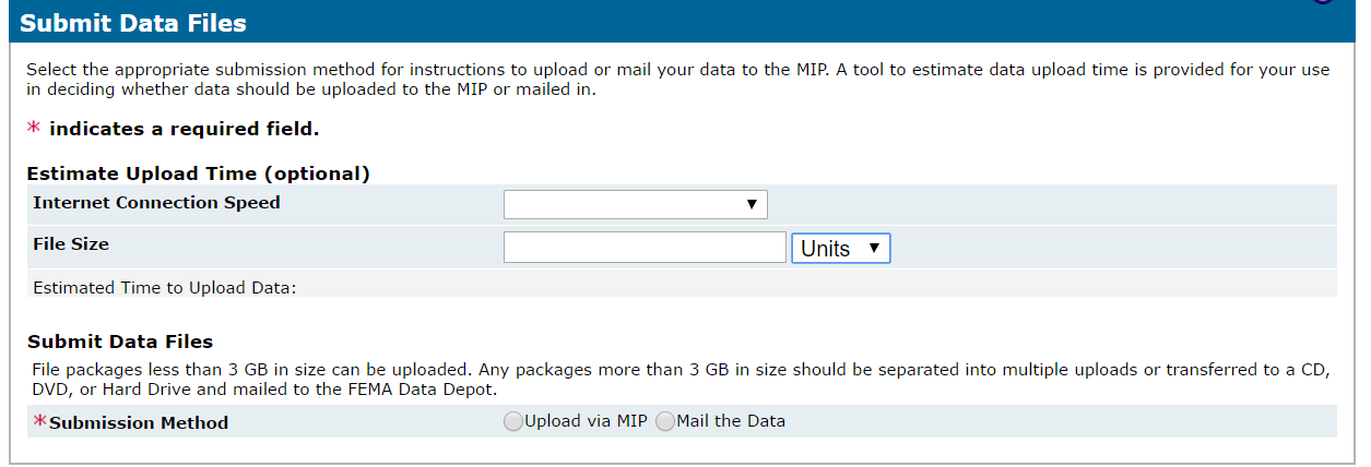 Submit Data Files -Upload via MIP
